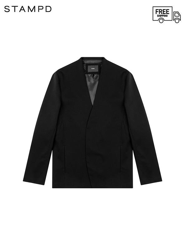 画像1: 【STAMPD - スタンプド】Unstructured Brand Blazer V2 / Black (ジャケット/ブラック) (1)