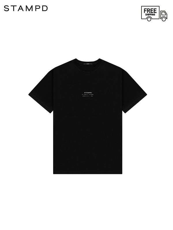 画像1: 【STAMPD - スタンプド】STCKD Logo Perfect tee / Black (Tシャツ/ブラック) (1)