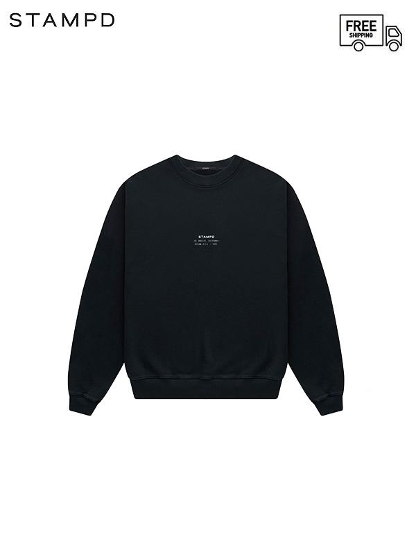画像1: 【STAMPD - スタンプド】STCKD Logo Crewneck / Black (スウェット/ブラック) (1)