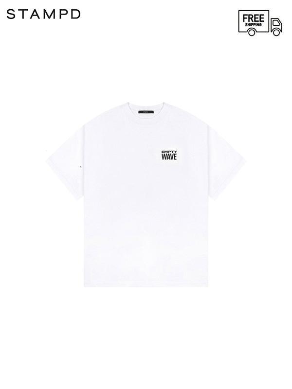 画像1: 【STAMPD - スタンプド】Empty Wave Relaxed tee/ White (Tシャツ/ホワイト) (1)