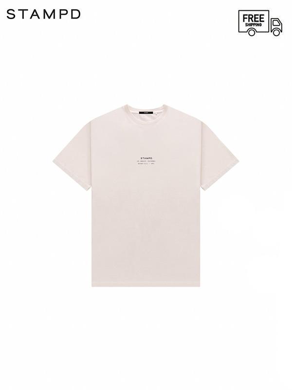 画像1: 【STAMPD - スタンプド】STCKD Logo Perfect tee / Sand (Tシャツ/サンド) (1)