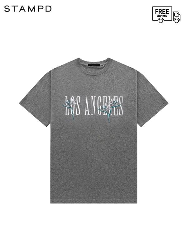 画像1: 【STAMPD - スタンプド】LA Paradise tee/ Grey (Tシャツ/グレー) (1)