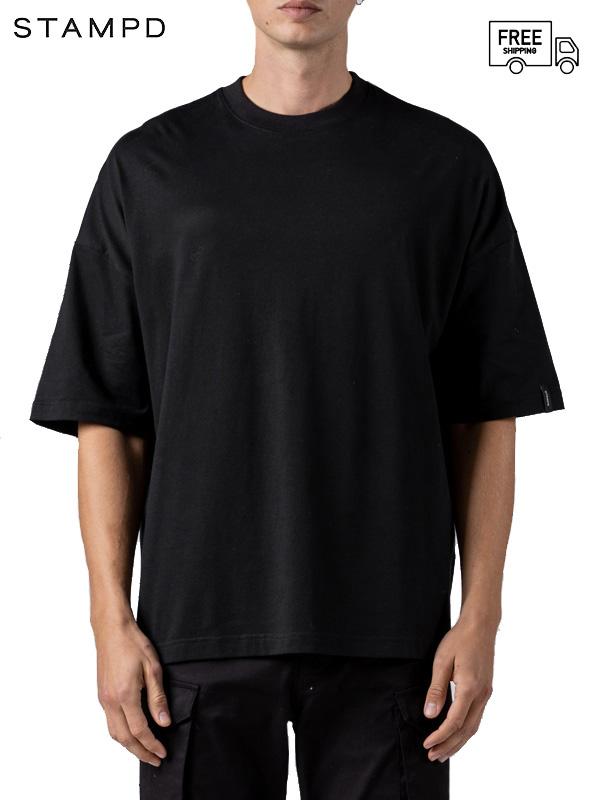 画像1: 【STAMPD - スタンプド】Oversized Greece Tee / Black ( Tシャツ/ブラック) (1)