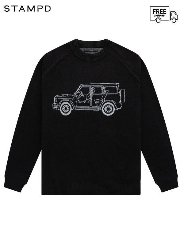 画像1: 【STAMPD - スタンプド】G63 Sweater / Black (セーター/ブラック) (1)