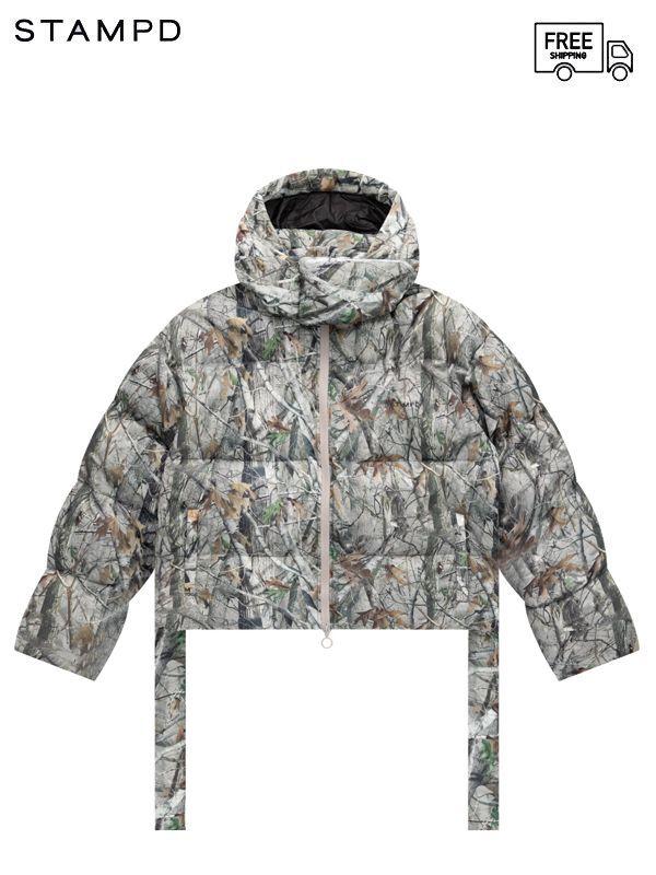 画像1: 【STAMPD - スタンプド】Terrain Camo Crop Puffer Jacket / Camo ( ダウンジャケット/カモ) (1)