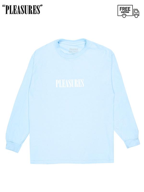 画像1: 【PLEASURES - プレジャーズ】TECHNIQUE LONG SLEEVE/Blue (Tシャツ/ブルー) (1)