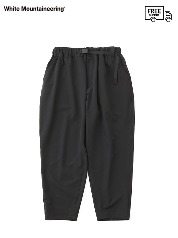 画像1: 【White Mountaineering - ホワイトマウンテニアリング】WM × GRAMICCI STRETCHED SAROUEL PANTS   / Black (パンツ/ブラック) (1)
