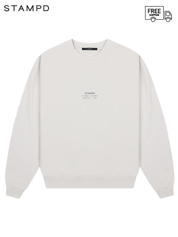 画像1: 【STAMPD - スタンプド】Washed Stacked Logo Crewneck / Beige (Tシャツ/ベージュ) (1)