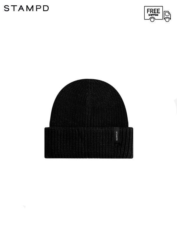 画像1: 【STAMPD - スタンプド】Brick Logo Beanie / Black (ビーニー/ブラック) (1)