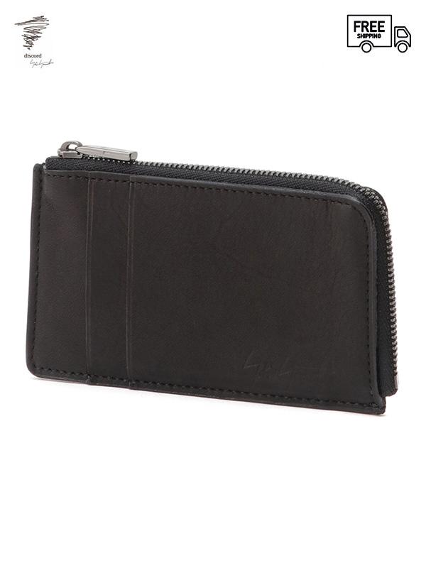 画像1: 【Discord Yohji Yamamoto  - ディスコード ヨウジヤマモト】Card mini wallet / Black (ウォレット/ブラック)  (1)