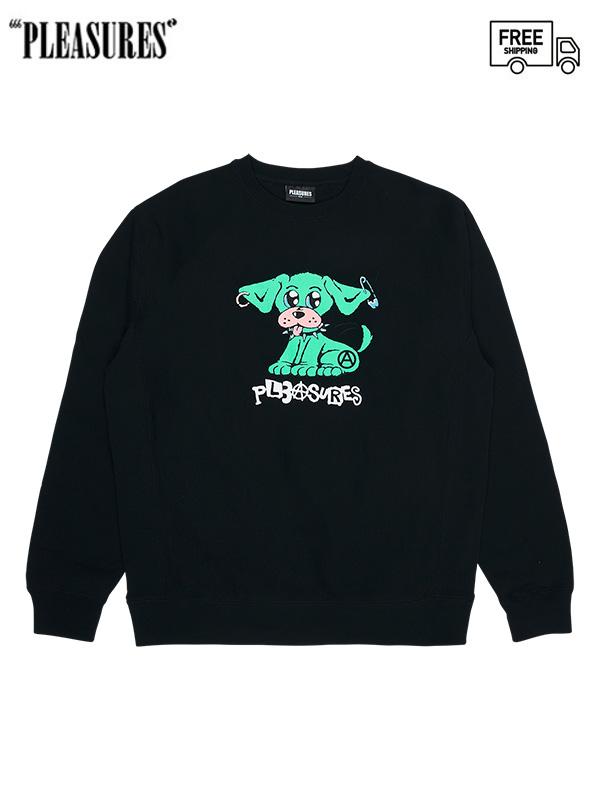 画像1: 【PLEASURES - プレジャーズ】Ruff Premium Crewneck / Black (スウェット/ブラック) (1)