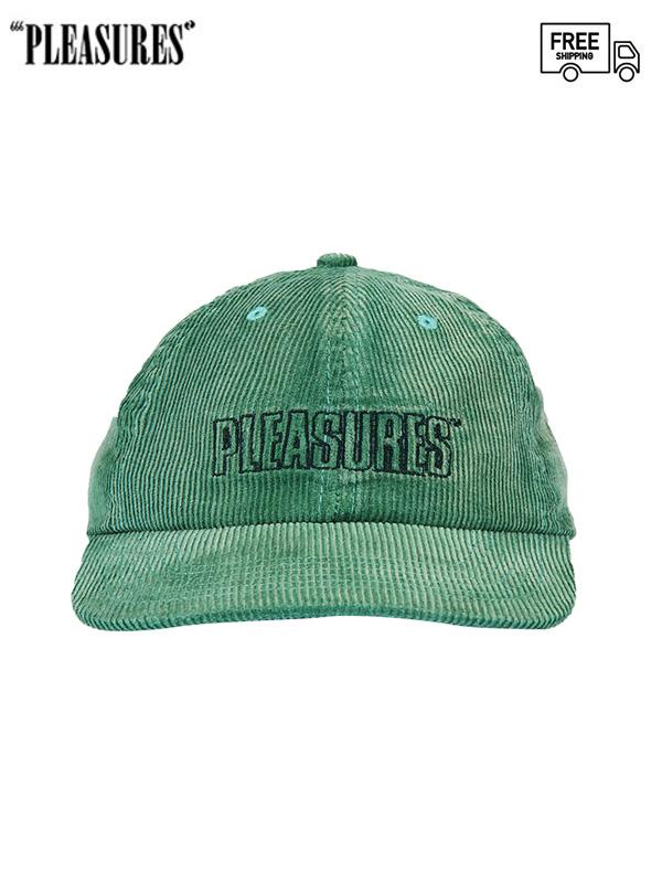 画像1: 【PLEASURES - プレジャーズ】IMPULSE CORDUROY HAT / Green (キャップ/グリーン) (1)