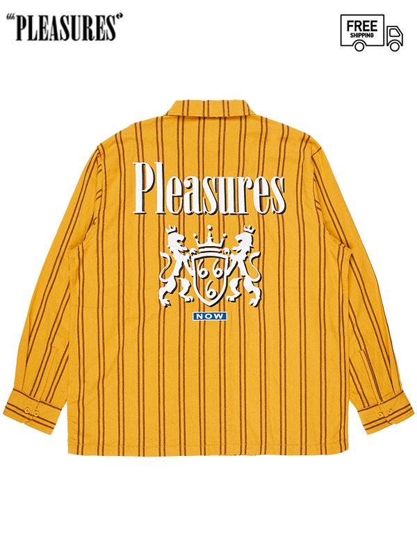 画像1: 【PLEASURES - プレジャーズ】RUBY WORK SHIRT /Mustard (シャツ/マスタード) (1)