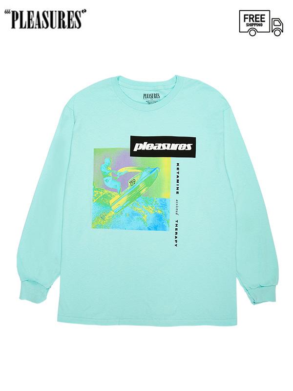画像1: 【PLEASURES - プレジャーズ】 K HOKE L/S Tee/Blue (Tシャツ/ブルー) (1)