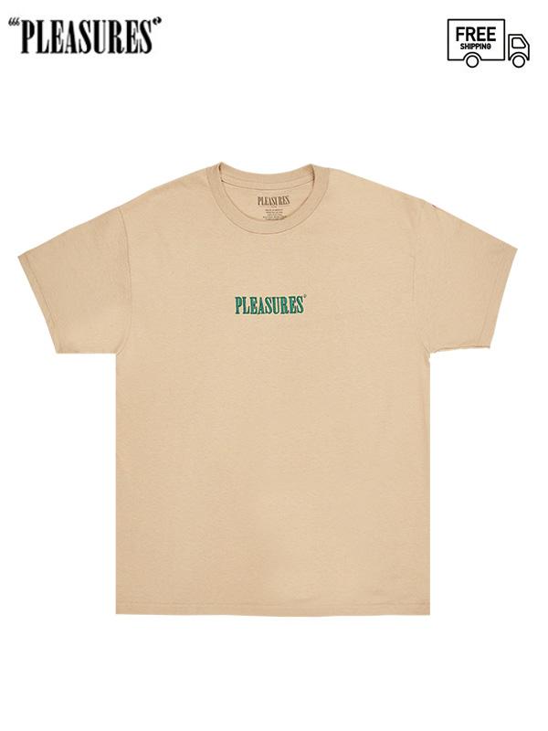 画像1: 【PLEASURES - プレジャーズ】CORE EMBROIDERED T-SHIRT/Beige (Tシャツ/ベージュ) (1)
