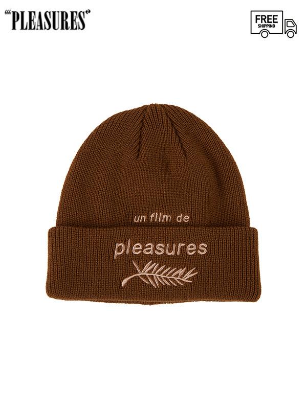 画像1: 【PLEASURES - プレジャーズ】Film Beanie / Brown(ビーニー/ブラウン) (1)