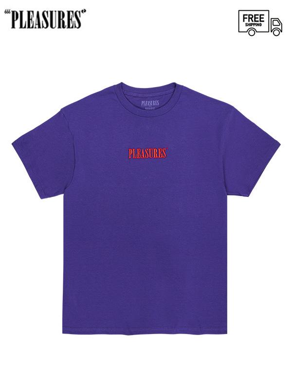 画像1: 【PLEASURES - プレジャーズ】CORE EMBROIDERED T-SHIRT/Purple (Tシャツ/パープル) (1)