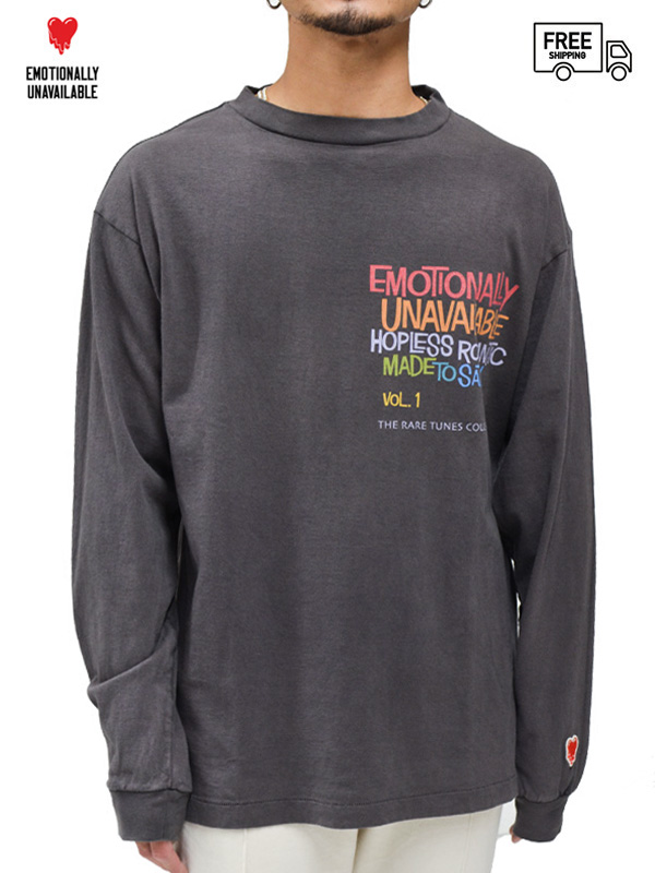 画像1: 【EMOTIONALLY UNAVAILABLE - エモーショナリー アンアベイラブル】EU HP LS T / BLACK(Tシャツ/ブラック) (1)